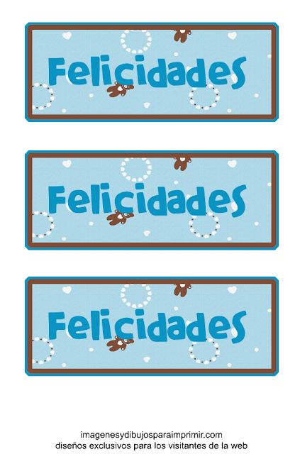 Etiquetas para bebes de felicidades