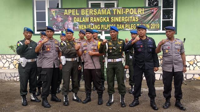 Jelang Pemilu Serentak 2019, TNI-POLRI di Bone Semakin Mantapkan Sinergitas