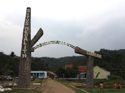 Gunung Padang Megalithic Site Entrance