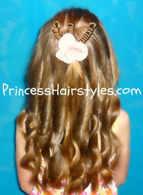 long curly hair with hair coils