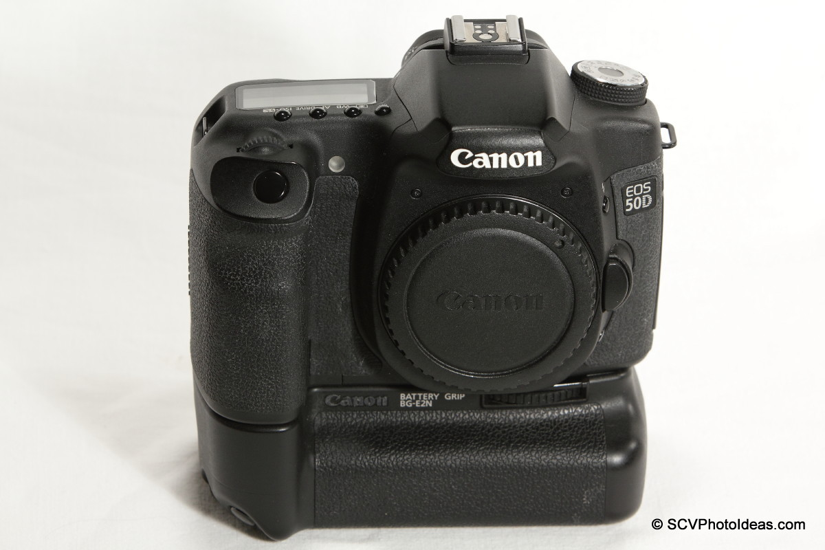 Canon EOS 50D Digital Camera with BG-EN2 battery grip front