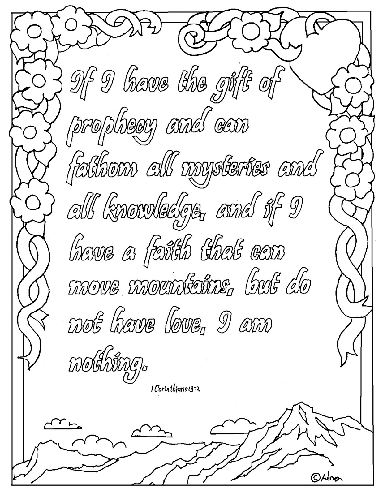 Coloring Pages For Kids By Mr Adron Printable 1