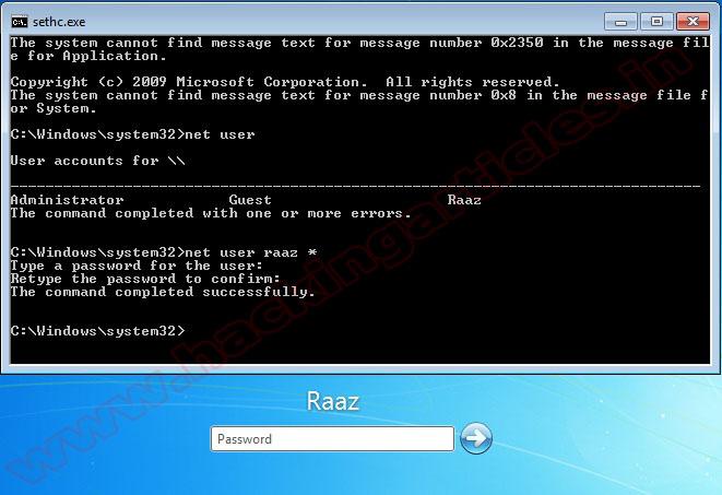 hacking windows 8 administrator password