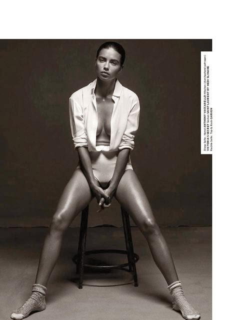 Adriana Lima Interview Germany black and white minimalism