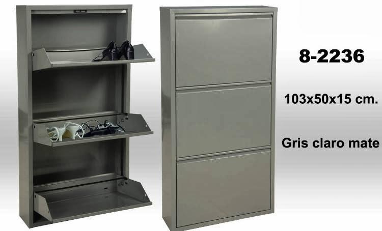 mueble zapatos metalico, zapatero metalico gris
