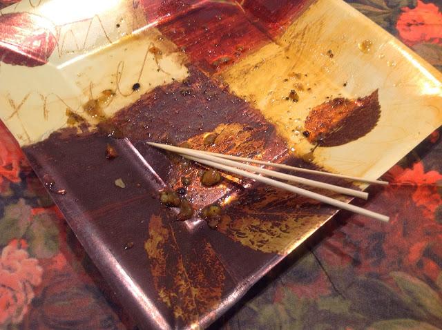 empty plate mushroom appetizer