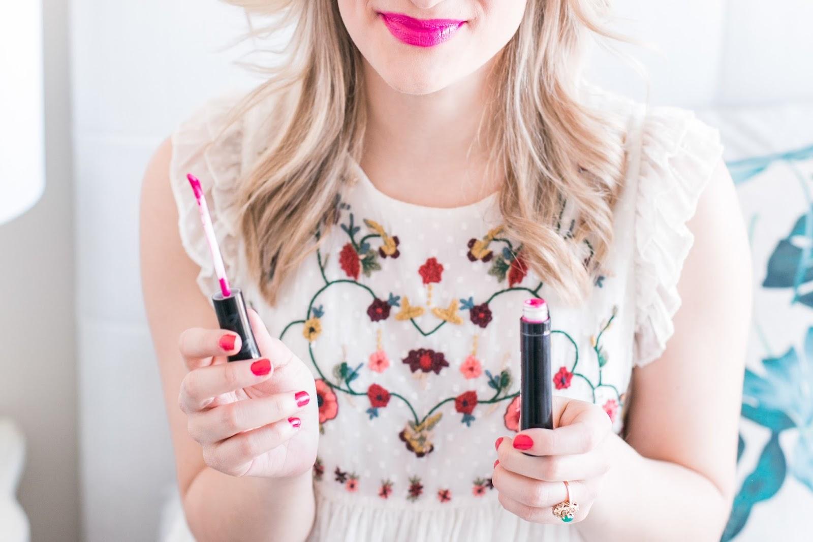 5 Pink Buxom Va-Va-PLUMP Shiny Liquid Lipsticks To Try This Spring - Dare Me Shade