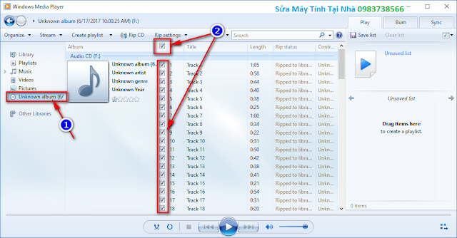 Chuyển cda sang mp3 bằng Windows Media Player