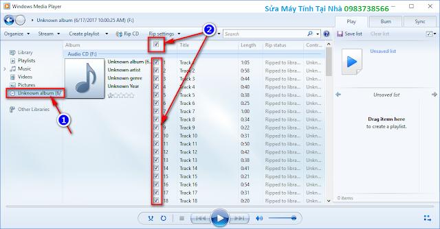 Chuyển cda sang mp3 bằng Windows Media Player