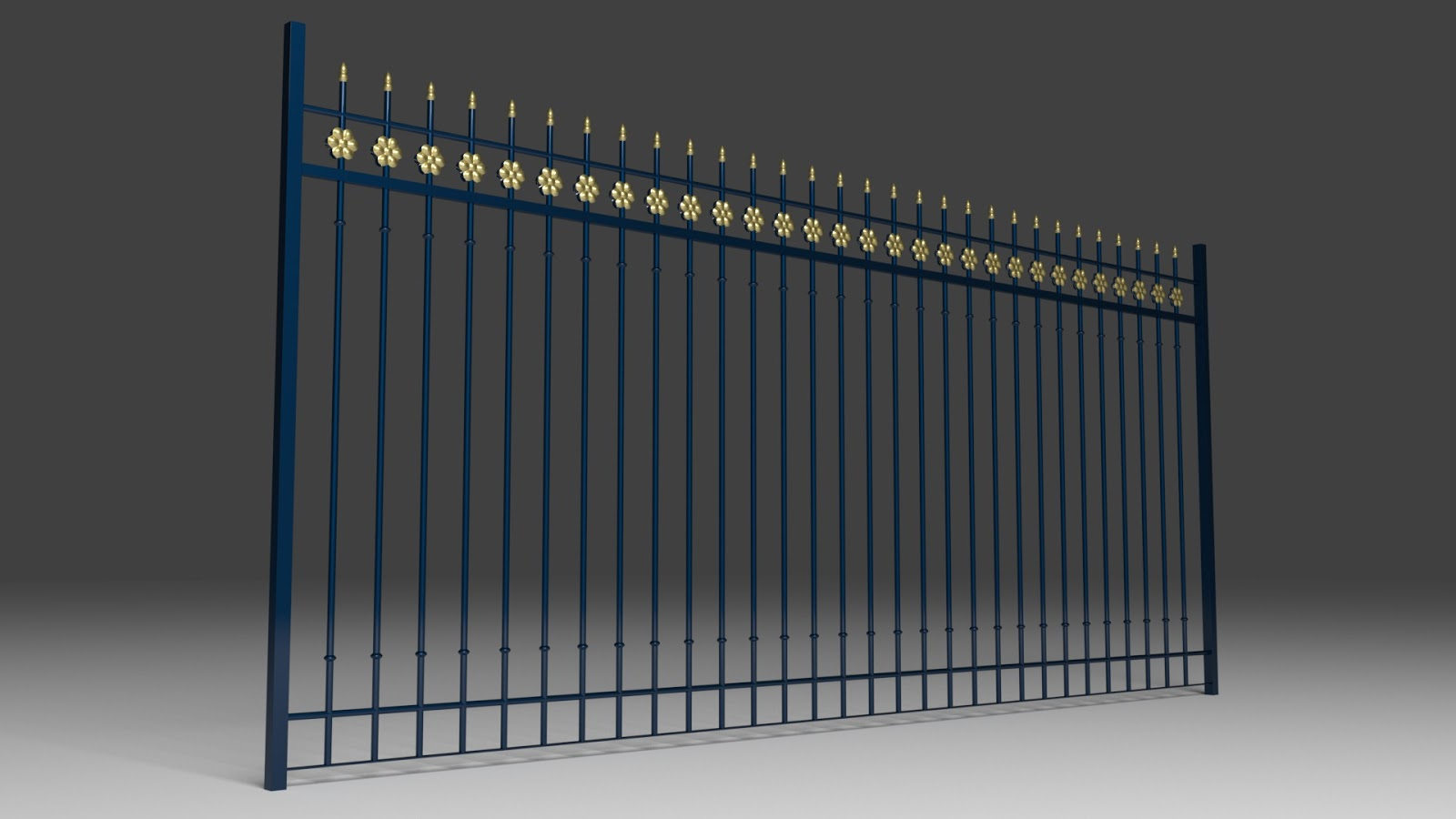 Free 3D Fence Gate .blend file