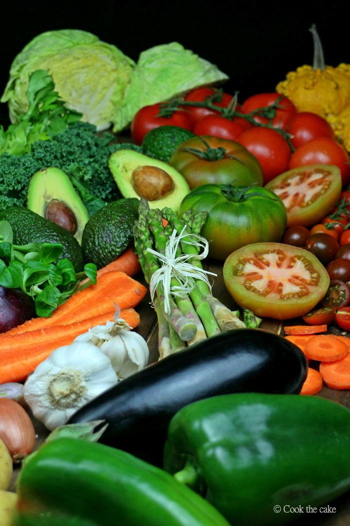 verduras, vegetables