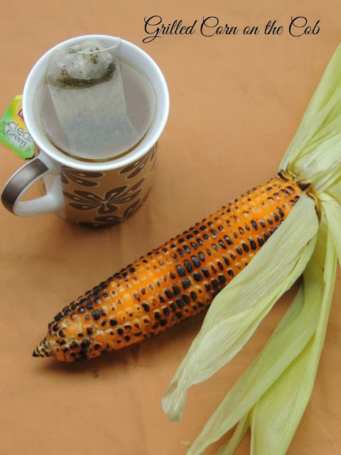 Grilled corn on the cob, chaat masala grilled corn