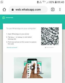Buka web whatsapp