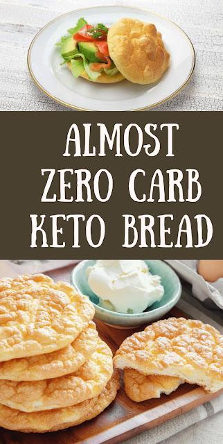 Almost Zero Carb Keto Bread {free bread replacement}