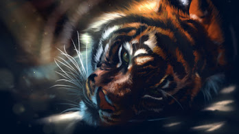 Tiger, Art, 4K, #4.559