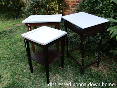 table makeover, painted furniture, vintage tables, Howard's Restor-A-Finish