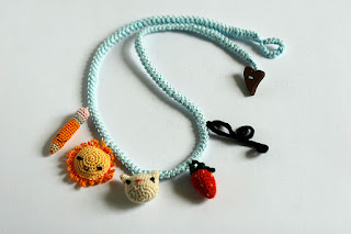 Crochet accessories necklace bracelet charms by TomToy