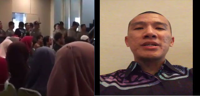 Begini Suasana Pembubaran Kajian Ustadz Felix Siauw Di Malang