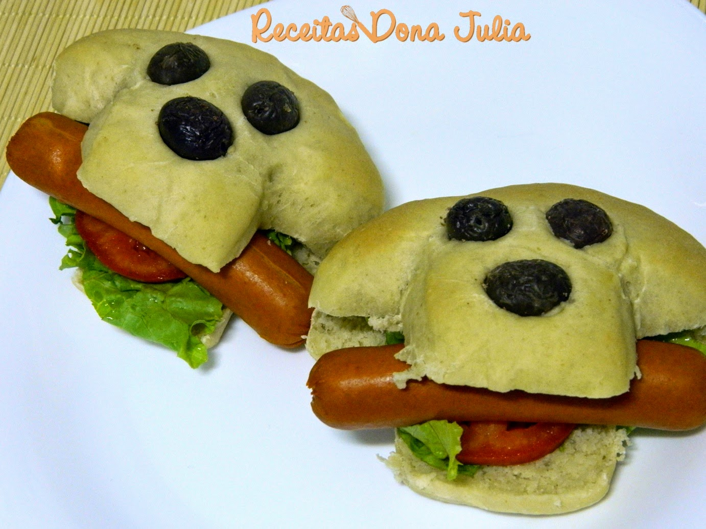 Hot dog divertido