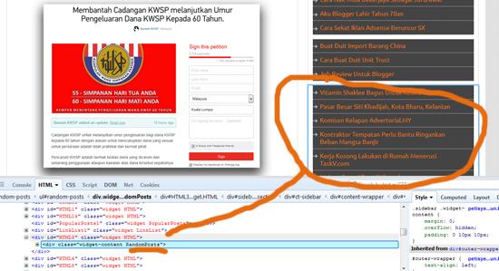 Cara Hilangkan Widget Tertentu Untuk Blog Responsif