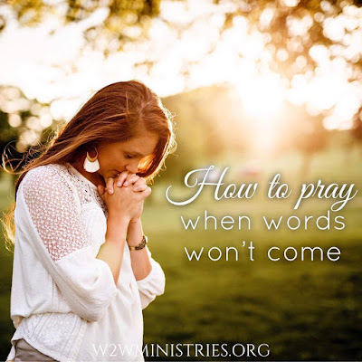 How to pray when words won't come. #prayer