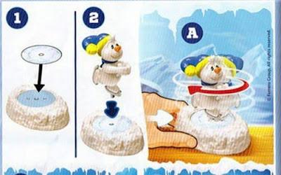 Игрушка снеговик из Kinder Maxi Snowmen, кружится на коньках