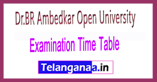 Dr.BR Ambedkar Open University BRAOU UG 1st 2nd 3rd Year Examination Time Table 2018