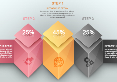 Free PSD Modern Infographic Colorful Cube