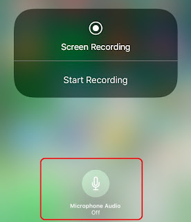 Here's How to turn ON/OFF Microphone while recording screen on iOS 11 or how to enable or disable microphone while recording screen on iOS 11