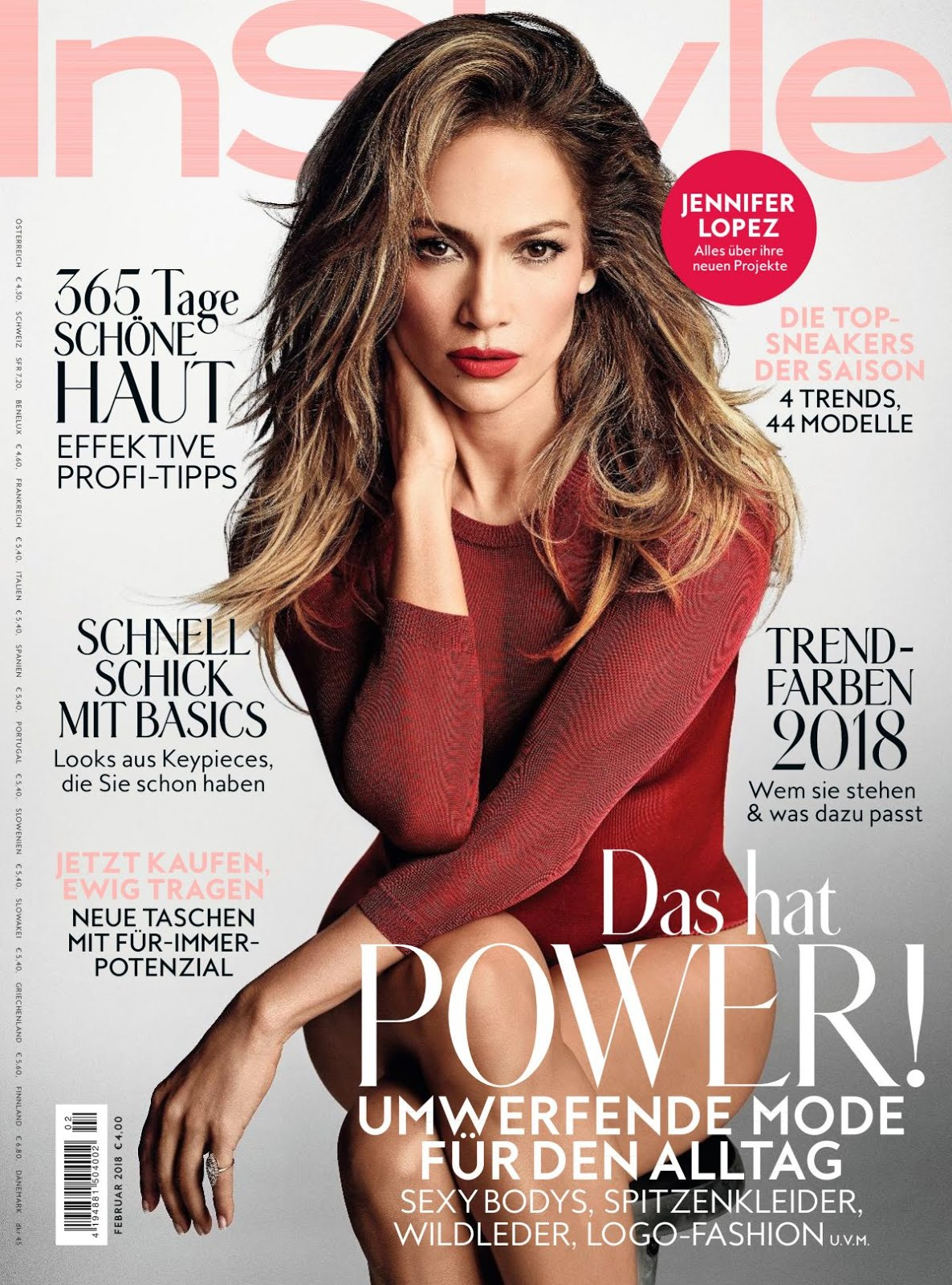Instyle Magazine Us: Jennifer Lopez In Instyle Magazine Germany February 2018