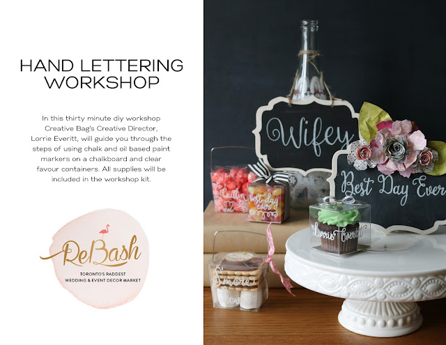 pretty bohemian wedding decor inspiration | diy hand lettering workshop at ReBash show