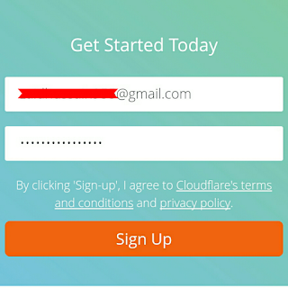 Sign up on Cloudflare