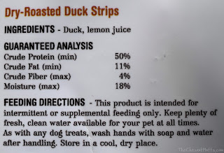 Dry-roasted duck strips pawtreats pawtree dog treat ingredients