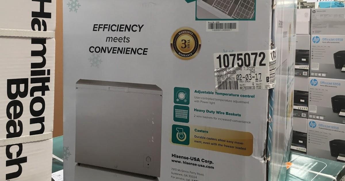 Hisense FC72D6BWE 7 2 cu ft Chest Freezer   Costco Weekender