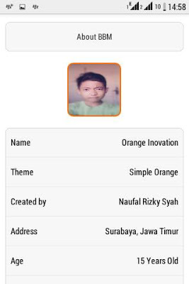 Free Download Aplikasi BBM Orange Inovation V3 base 2.9.0.45 APK