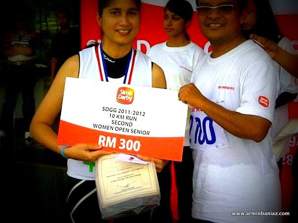 Norliza Mohd Khalid winning no 2 at Sime Darby 10km run 2012 e8b6e04e5c
