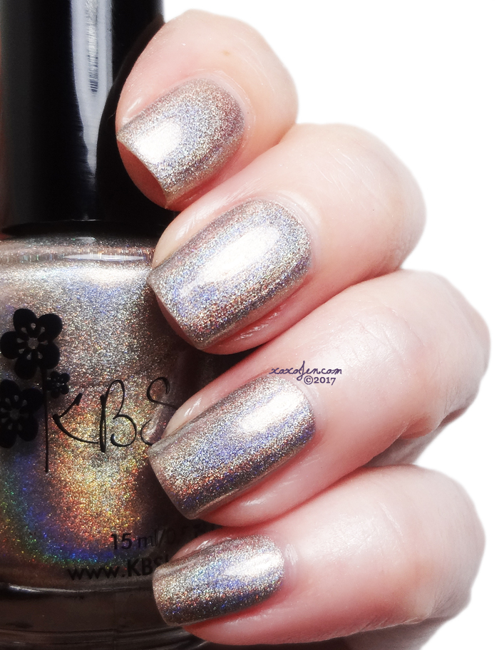 ox's swatch of  KBShimmer  您're Brew-tiful