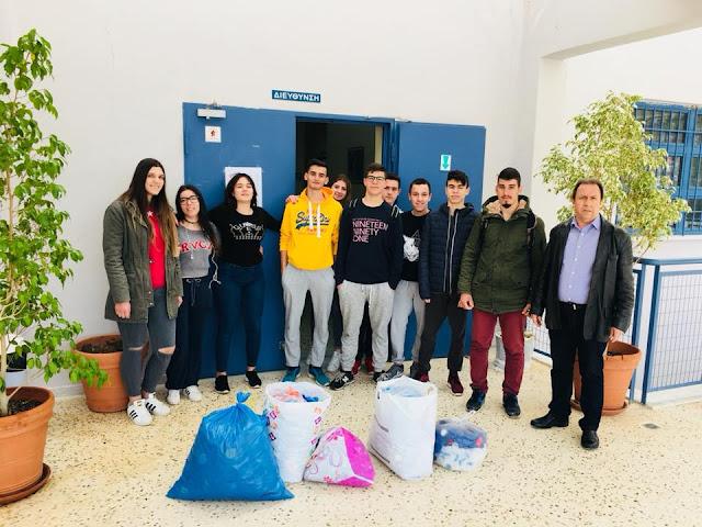 Οι μαθητές του ΕΠΑΛ Ναυπλίου μάζεψαν πλαστικά καπάκια για την αγορά αναπηρικού αμαξιδίου