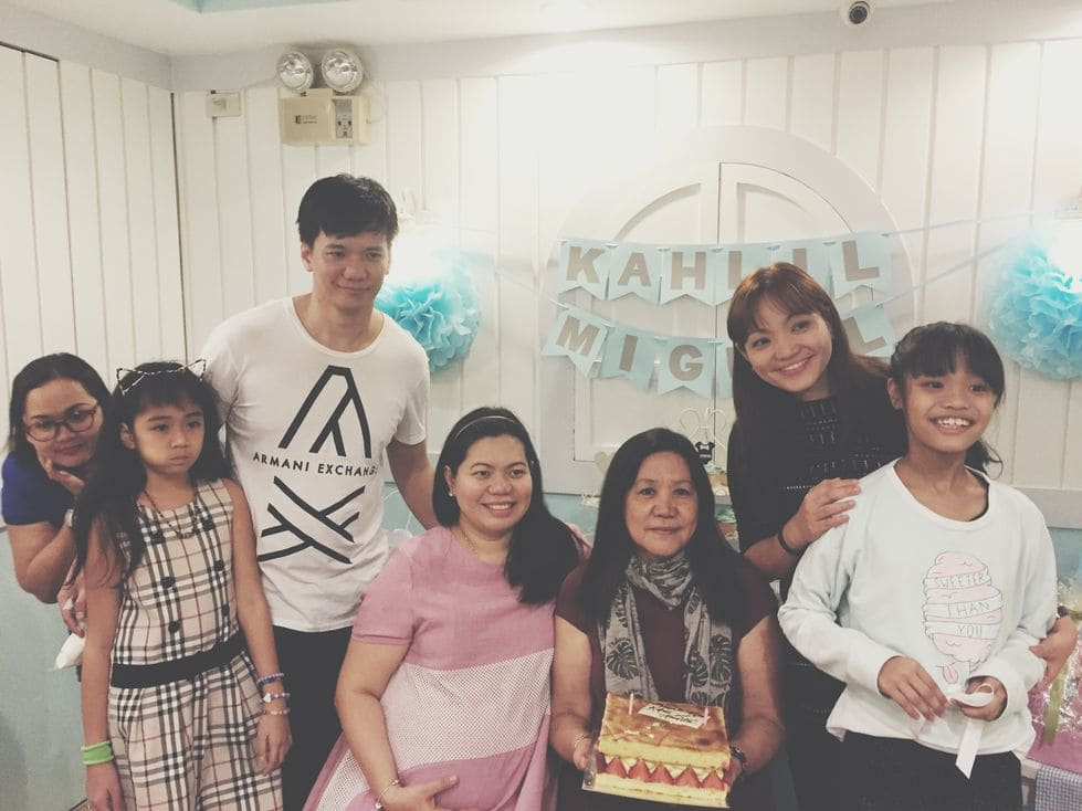 Birthday celebration for my mother-in-law during our Stacy's BGC baby shower