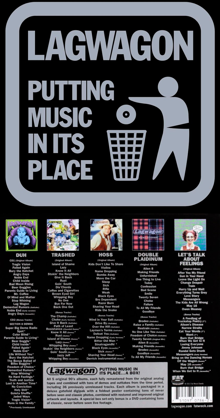 Screaming Fastcore ::: Lagwagon - Putting Music In Its Place