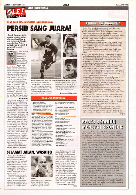 KILAS BALIK LIGA INDONESIA I PERSIB SANG JUARA