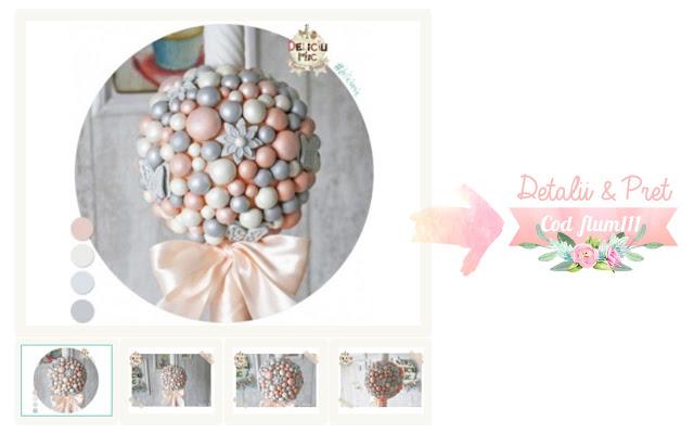 lumanare perle sidefate