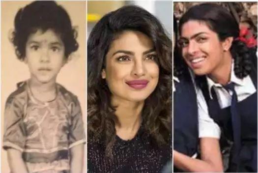 Priyanka chopra childhood pic