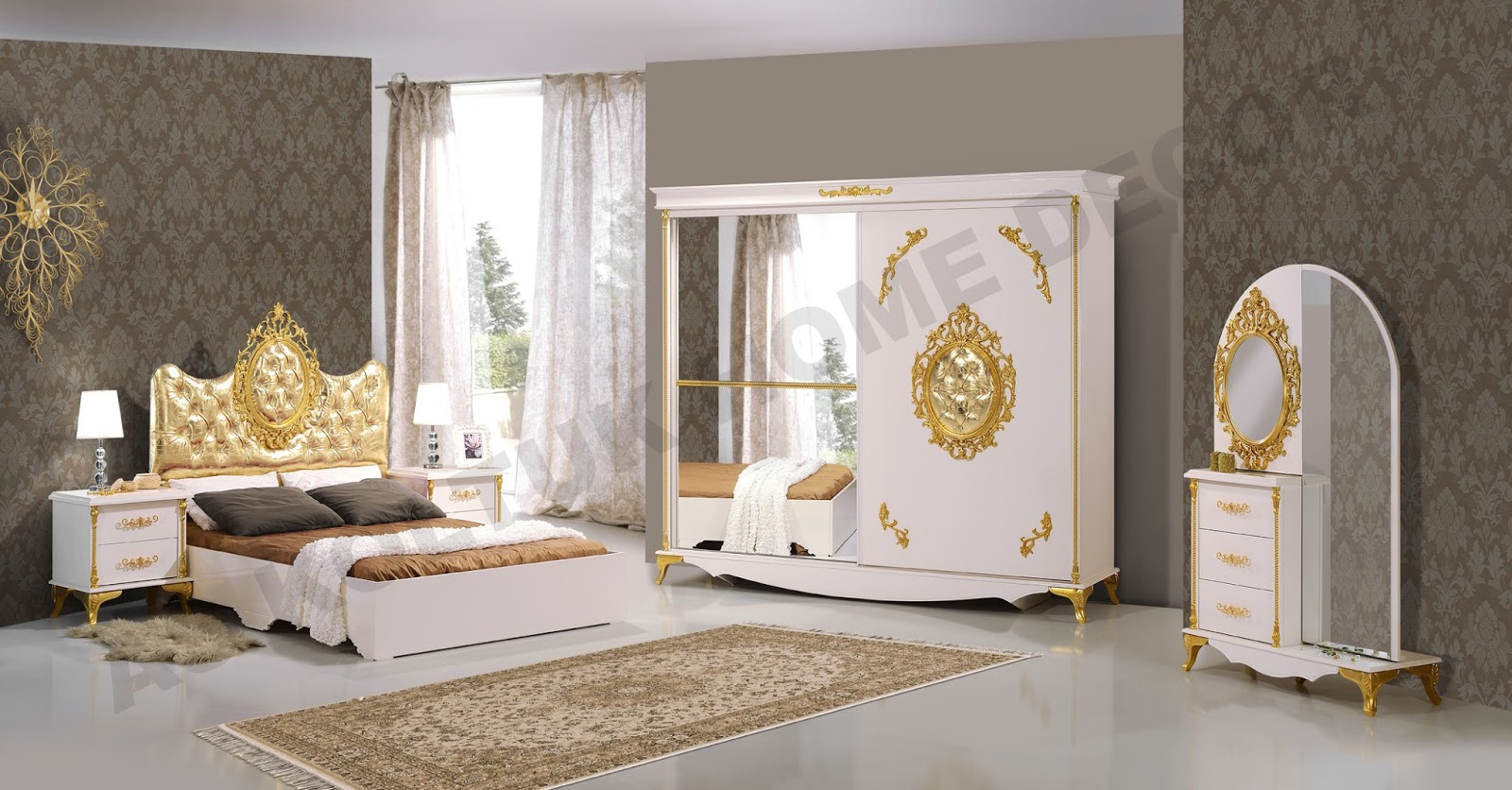 As Koltuk Home Decor For Sale White And Gold Classic Bedroom Set