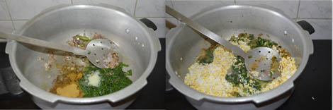 how to prepare spinach khichdi