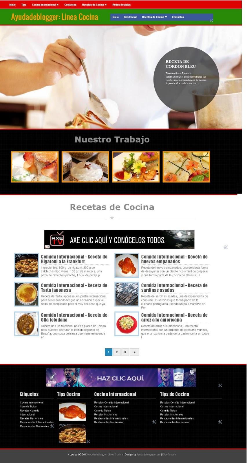 Plantillas para blogger Línea Cocina | Ayuda de Blogger