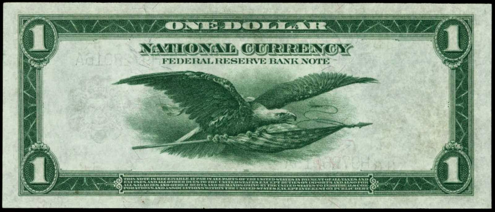 United States One dollar bill Flying Eagle
