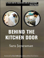 Book cover: Behind the Kitchen Door by Saru Jayaraman