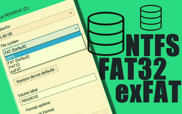 sistema de arquivo fat32