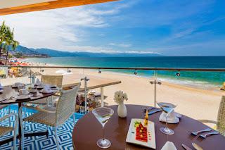 View from La Ceiba restaurant's new second floor, Villa Premiere Boutique Hotel & Romantic Getaway, Puerto Vallarta